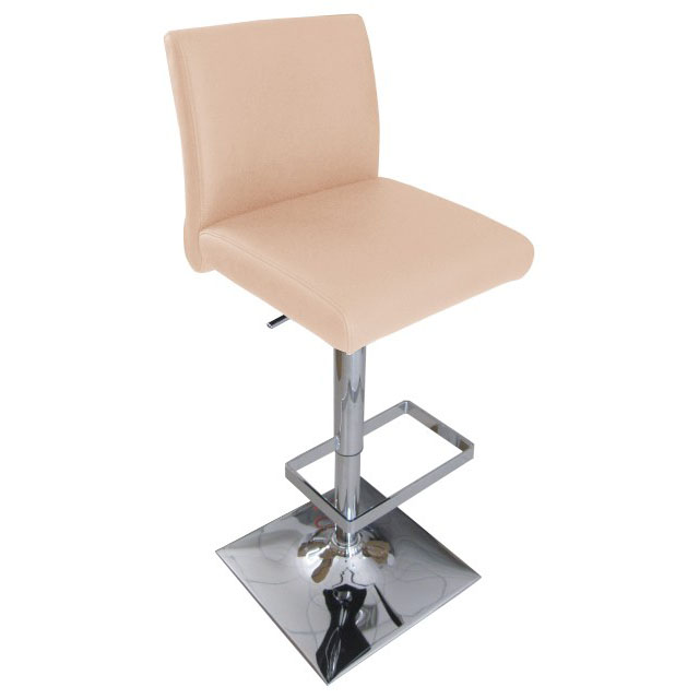 Snella Leather Bar Stool - Cream